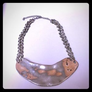 BeBe Silver Hammered Choker/Necklace
